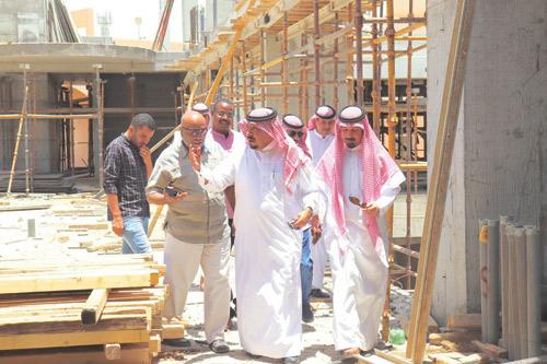 أمين جمعية البر بالنيابة يتفقد مشروع الوقف الخيري